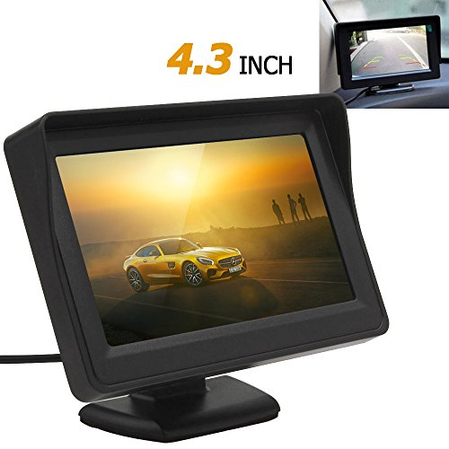 ePathChina® 4.3 Inch High Definition 480 x 272 Pixels Resolution Digital Panel Car Rearview LCD Monitor Support Two Auto Ways Of Video Output V1/V2 Selecting Car Rear View Monitor with Multi-Role Display Function & Adjustable Bracket