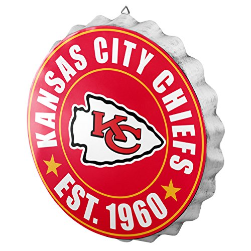 Kansas City Chiefs Cap (FOCO Kansas City Chiefs 2016 Bottle Cap Wall Sign)
