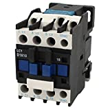 SODIAL(R) AC Contactor AC220V Coil 18A 3-Phase 1NO 50/60Hz Motor Starter Relay LC1 D1810 Black