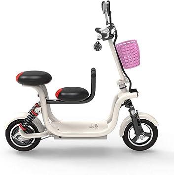 QIONGS Los Asientos Dobles eléctrico Bicicletas, Frenos de Disco y ...