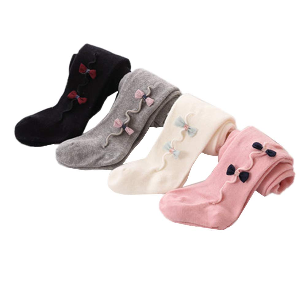 Infant Baby Girls Tights Leggings Stockings Toddler Bowknot Pantyhose Pants Socks 4 Pair 24-36M