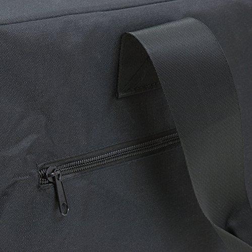 """Flugreisetasche, Travelbag, Handgepäcktasche, ultraleicht, """"On Board"""", AD112bl, Faltbare Reisetasche, schwarz, 51 cm x 32 cm x 17 cm"""