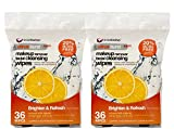 Make Facial Cleansing Wipes - BioSwiss 72 Count Orange Citrus Infused Facial Cleansing Makeup Removal Wipes 2 Pack