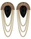 Crunchy Fashion Stylish Bollywood Jewelry Black Party Wear Dangle and Drop Earrings for Women