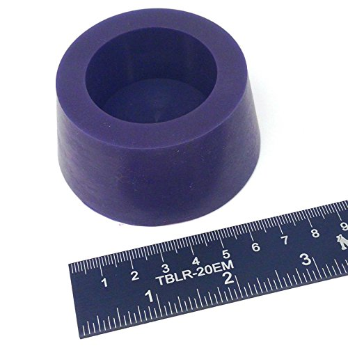 (1) 2 7/16 x 3 #13.5 High Temp Silicone Rubber Tapered Stopper Plug Powder Coating Paint Masking