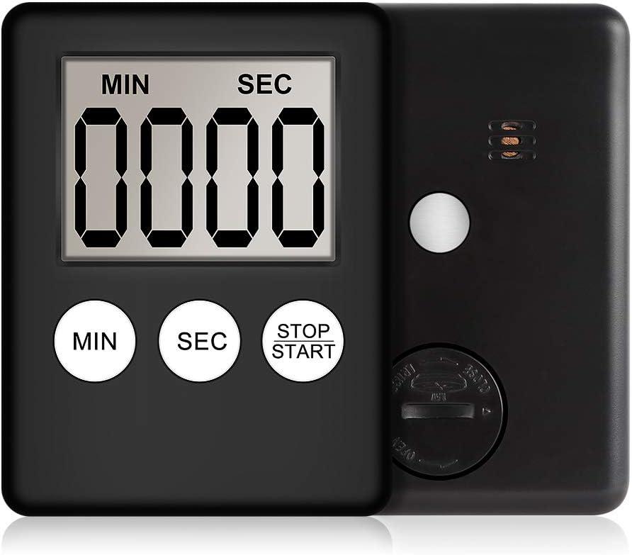 einfache Bedienung YOUQING Digitaler K/üchen-Timer Badezimmer rose Lehrer Dusche Kinder Batterie im Lieferumfang enthalten gro/ße Ziffern f/ür Kochen