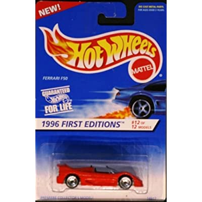 Hot Wheels 1996 First Editions 1:64 Scale Red Ferrari F50 Die Cast Car #012: Toys & Games