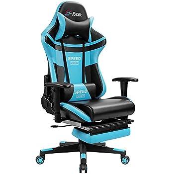 Amazon Com Homall Gaming Chair Racing Style High Back Pu