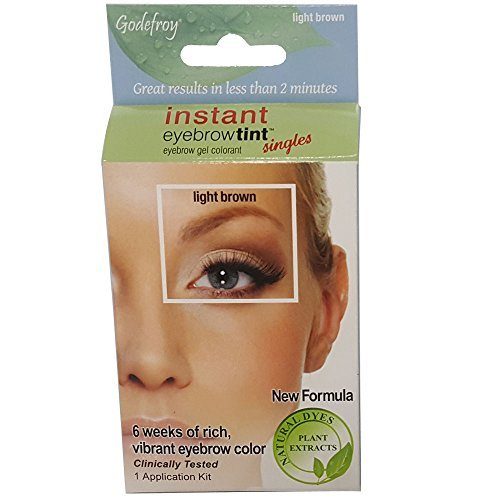 Godefroy Instant Eyebrow Tint Permanent Eyebrow Color Kit, Light Brown 1 Kit New Formula