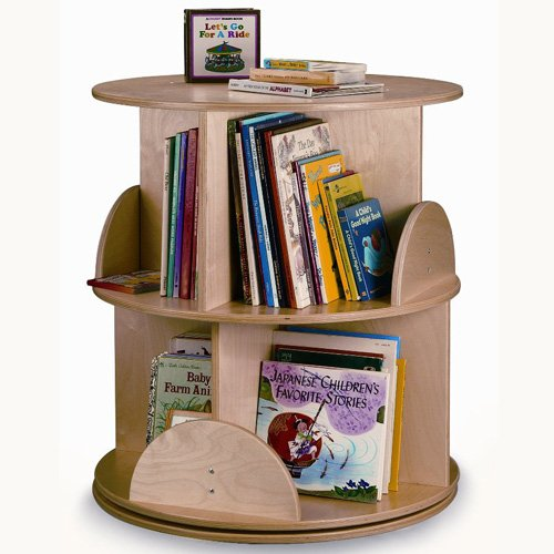 Whitney Brothers Two Level Carousel Book Stand by Whitney Brothers