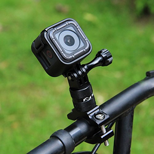 PULUZ 360 Degree Rotation Bicycle Bike Aluminum Handlebar Adapter Mount with Screw for GoPro Hero 7 Black/Hero 6 / Hero 5 Hero 4 Session Xiaoyi MiJiaSport Camera