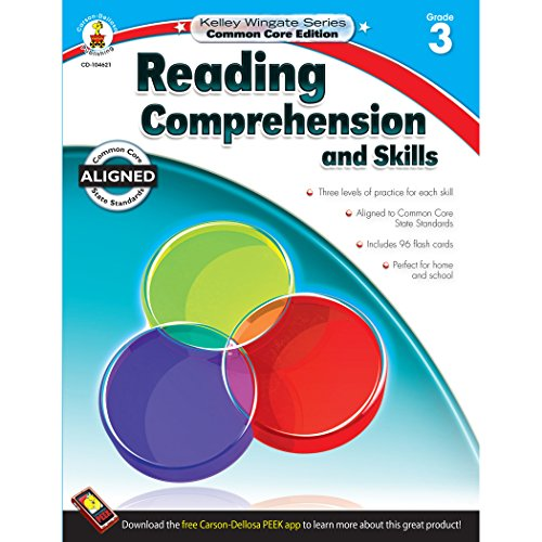 Carson-Dellosa Kelley Wingate Series Reading Comprehension and Skills Book - Common Core Edition, Grade 3, Ages 8 - 9