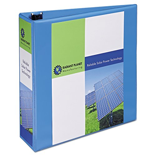 Avery Heavy-Duty Nonstick View Binder, 3 One Touch Slant Rings, 600-Sheet Capacity, DuraHinge, Lt. Blue (05601)