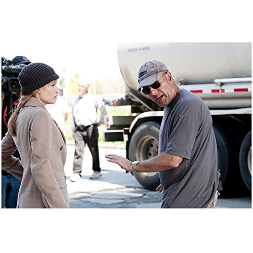 Salt (2010) (8 inch by 10 inch) PHOTOGRAPH Angelina Jolie Tan Coat & Knit Hat Getting Direction kn
