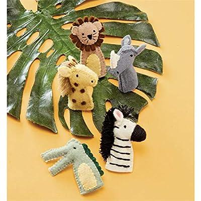 Mud Pie Safari Finger Puppet Set: Toys & Games