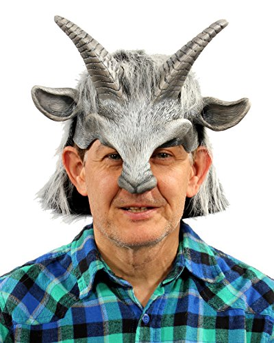 [Zagone Studios Silver Goat Boy Mask Head Piece] (Pan Goat Man Costume)