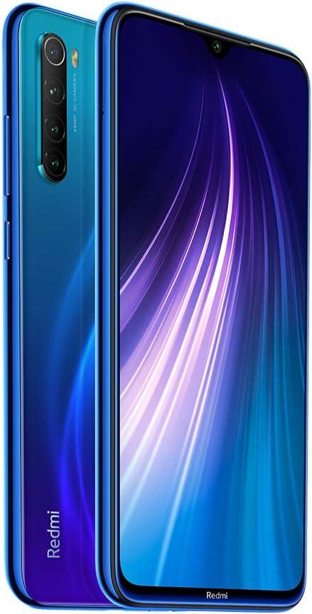 Xiaomi Redmi Note Neptune Blue 8 4GB 64GB Smartphone Snapdragon 665 Octa Core 48MP Cámara Trasera cuádruple 6.3