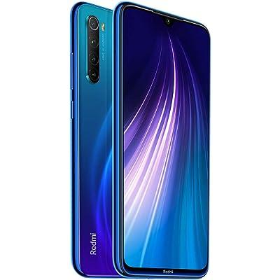 """Xiaomi Redmi Note Neptune Blue 8 4GB 64GB Smartphone Snapdragon 665 Octa Core 48MP Cámara Trasera cuádruple 6.3""""4000mAh 18W Cargador rápido【Versión Europea】 Azul"""