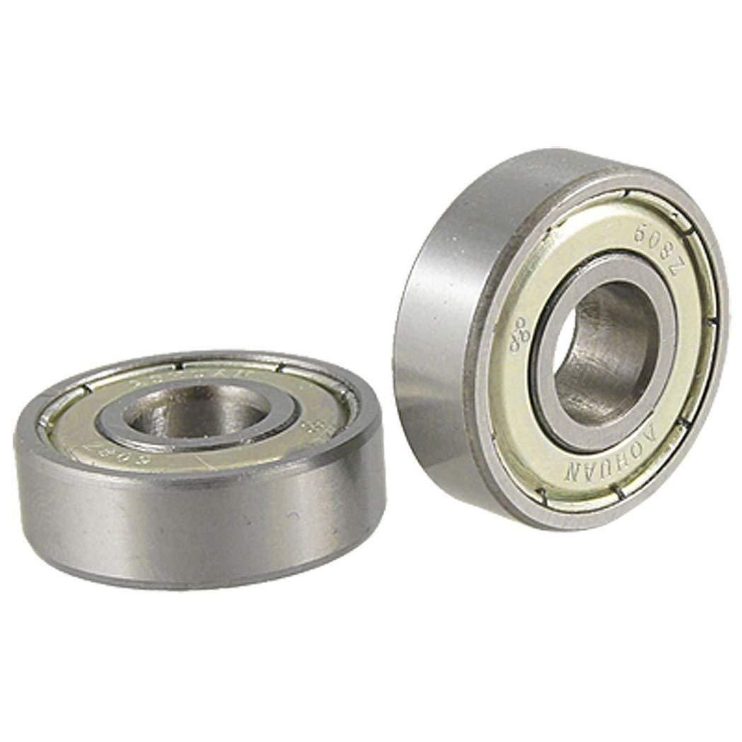 2Pcs 608Z Single Shielded Miniature Deep Groove Ball Bearings Ball Bearings