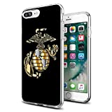 Cool Marine Corps USMC iPhone case for iPhone 7/8 Plus case Protective for Girls Men Women Cover Shockproof Bumper Anti-Drop PC Frame for 5.5' Designer