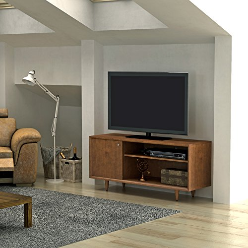 Pamari Brevenna TV Stand for TVs up to 60 inches and Maximum Weight 75 lbs., Mahogany Cherry