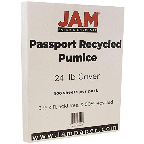 "UPC 608729145721, JAM Paper Recycled Paper - 8.5"" x 11"" - 24 lb Pumice Passport - 500/box"