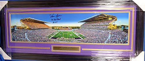 - Warren Moon Signed Framed Panoramic Photo Washington Huskies 78 Rose Bowl MVP - Certified Authentic