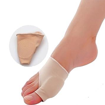 Estiramiento Calcetines de Nylon Hallux Valgus Guardia Protector del Juanete del dedo del pie Separador Pulgar Valgus Protector Pedicura Quiste Cuidado de ...