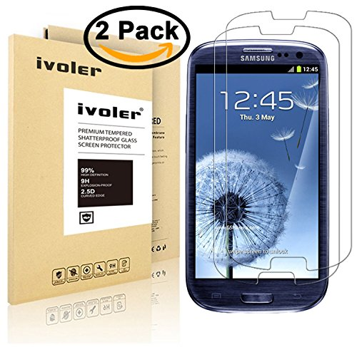 [2 Pack] iVoler [Tempered Glass] Screen Protector for Samsung Galaxy S3 / S3 Neo, [0.2mm Ultra Thin 9H Hardness 2.5D Round Edge] with Lifetime Replacement Warranty