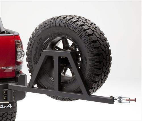 Body Armor 4x4 TC-5293 - Black - Steel Swing Arm Tire Carrier For TC-2961 - 2005-2013 Toyota Tacoma