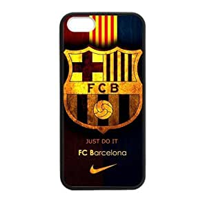 diy zhengRetro FC Barcelona Apple iphone 5/5s//5 Case Cover TPU Laser Technology Futbol Club Barce