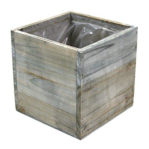 Koyal Wholesale Square Cube Wood Vase (Pack of 6), 6