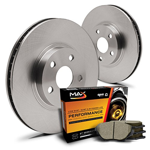 Oe Oem Brake Disc Rotors (Max KT005641 Front Premium OE Replacement Rotors and Ceramic Pads Combo Brake)