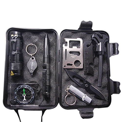 10-in-1-Professional-Survival-Kit-Outdoor-Travel-Hike-Field-Camp-Emergency-Kits-free-shipping