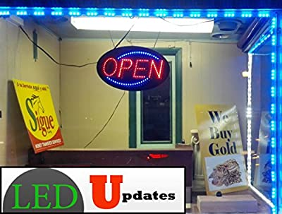 60ft Super bright storefront LED light blue 5630 injection module with UL 12v AC Power package