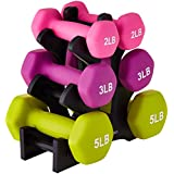 SPORTING_GOODS  Amazon, модель AmazonBasics 20-Pound Dumbbell Set with Stand, White Lettering, артикул B0727Q5F94