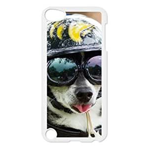ipod 5 White phone case Funny Dog With Glasses OLP5789415