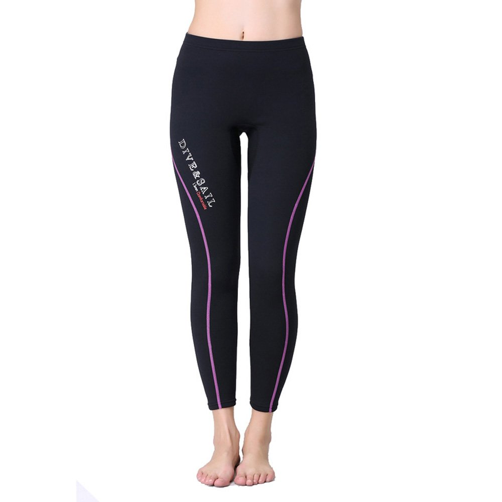 A Point Wetsuit Pant 1.5mm Neoprene Diving PantsWinter Swimming Pants (L, women's purple) by A Point diving