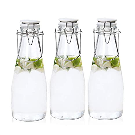 JACKBAGGIO 3 botellas de vidrio para el hogar - Botella de ...