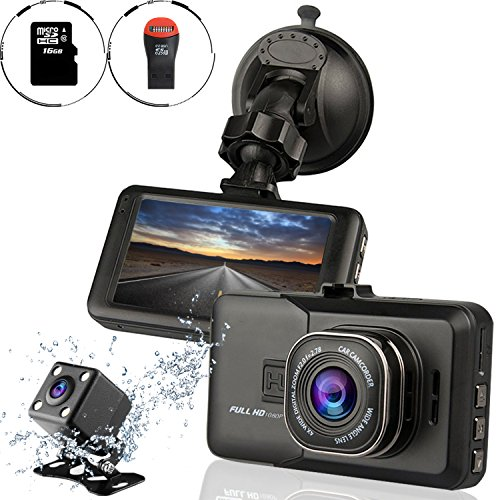 ampulla sentry hd dash cam front and rear camera with full hd1080 170 degree wide angle. Black Bedroom Furniture Sets. Home Design Ideas