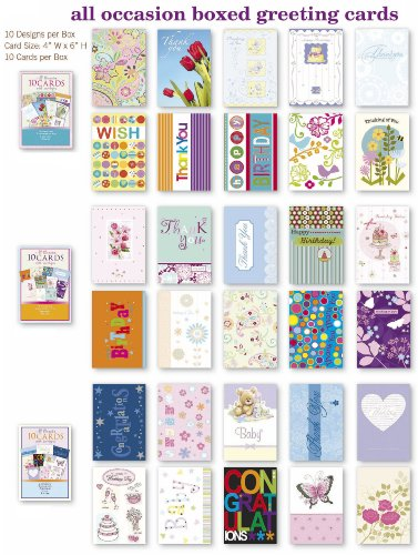 Occasion Card Set (Assorted All Occasion Cards Box Set 30 Pack, Thinking of You, Blank, Thanks You, Congratulations & Birthday Greeting Cards Assortment in)