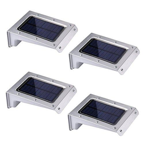 Qedertek 20 LED Solar Light, Security Lighting Outdoor Motion Sensor Lighting for Garden, Patio, Fencing and Pathway, 4PCS