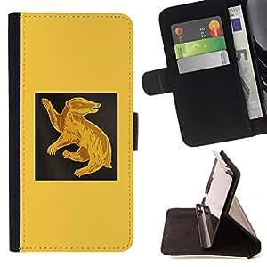 Momo Phone Case / Flip Funda de Cuero Case Cover - Amarillo Ant Eater;;;;;;;; - Samsung Galaxy Note 5 5th N9200