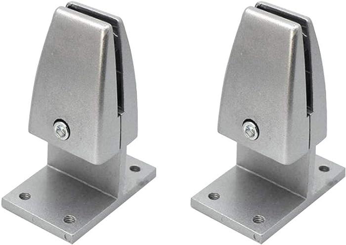 2 Pieces T Shape Office Desk Partition Support Bracket Shelf Clip Clamp Holder Screen Clip Holder (Sliver)