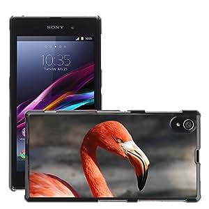 Cas Coq Case Cover // M00147247 Animal Flamingo Bill Red // Sony Xperia Z1 L39 C6903 C6906 C6943 C6902