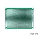Loweryeah 6X8cm Double-Side Prototype PCB Universal Printed Circuit Board 5pcs