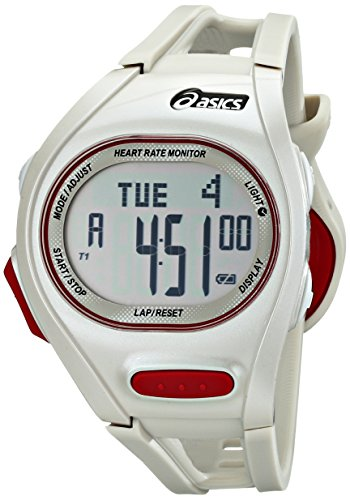 Asics Unisex CQAH0103 Heart Rate Monitor Watch with White...