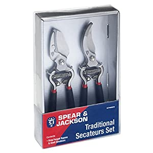 Spear and Jackson Traditional Bypass and Anvil Secateurs Set (Twin Pack)