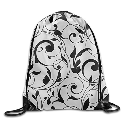 Yishuo Horizontal Floral Vintage Background Drawstring Pack Beam Mouth Gym Sack Shoulder Bags For Men & Women