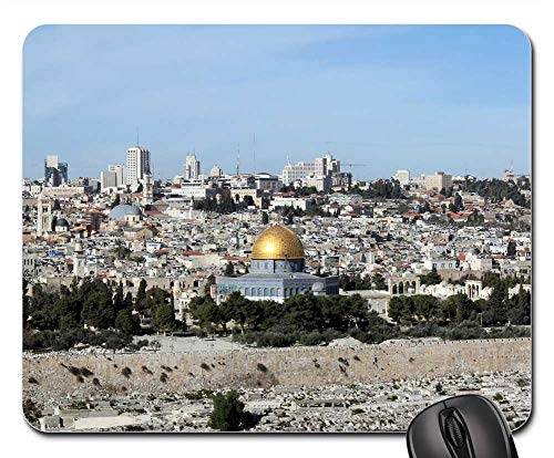 Mouse Pads - Al-Aqsa Mosque Dome of The Rock Holy Land Jerusalem